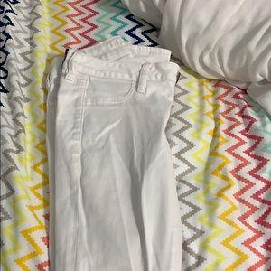 Women's White American Eagle Jeans